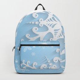 Snowflake background Backpack