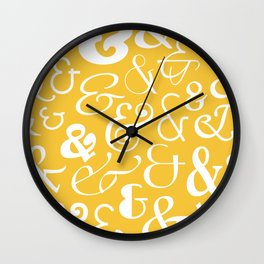 We Are Ampersands Wall Clock