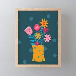 Spotty Flowers Framed Mini Art Print
