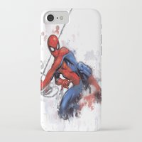 spider man iPhone & iPod Cases featuring Spider-Man  by Isaak_Rodriguez