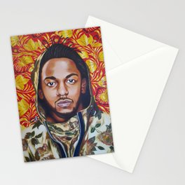 Kendrick Lamar Floral 'A Celebration of Hip Hop' Acrylic Painting Stationery Cards
