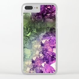 Colourful Crystal Clear iPhone Case