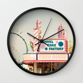 Carnival Funnel Cake Factory  Wall Clock