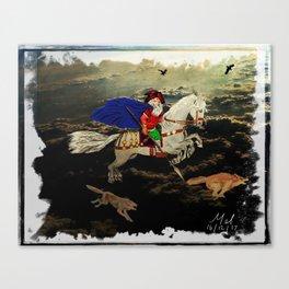 Woden on Sleipnir Canvas Print