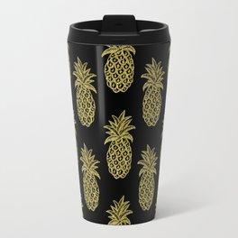 Golden Pineapples Travel Mug