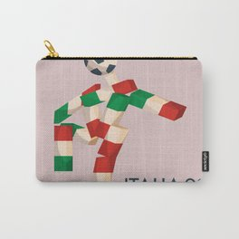 Vintage World Cup poster, Ciao, Italia 90 mascot, old football print Carry-All Pouch