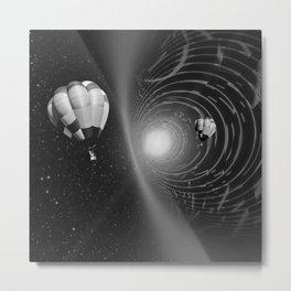 Multiverse (Black & White) Metal Print