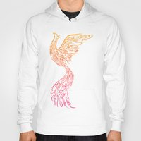 phoenix Hoodies featuring Phoenix by Freeminds