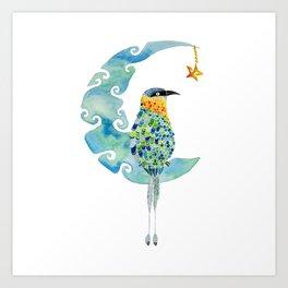 Bobo bird on the moon Art Print