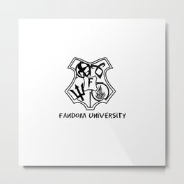 fandom university  Metal Print