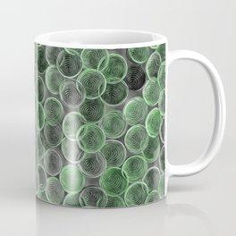 Black, white and green spiraled coils Coffee Mug