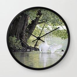 Swan Lake, Wollaton Hall, Nottinghamshire Wall Clock