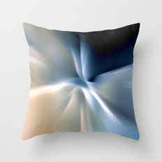 Blue splash Throw Pillow