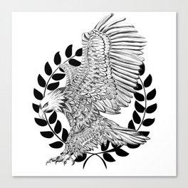 Aztec Eagle drawing Canvas Print