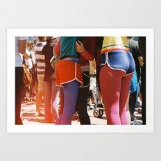SF gay pride Art Print