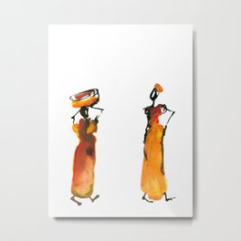 Malaika and Zeita dressing fire flames Metal Print