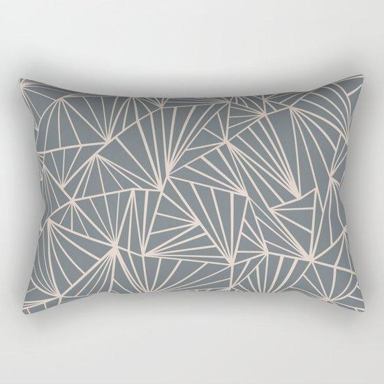 Ab Fan Grey And Nude Rectangular Pillow
