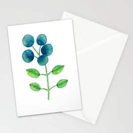 Blue Berry Flower Stationery Cards