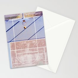 basketball court 3 Stationery Cards