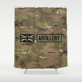 British Flag: Artillery (Camo) Shower Curtain