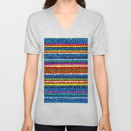 African American Masterpiece 'Light Blue Nursery No. 2'' by Alma Thomas Art Print Unisex V-Neck