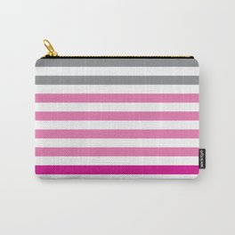 Stripes Gradient - Pink Carry-All Pouch