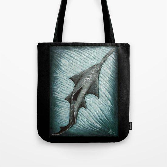 Sawfish - Acrylic Painting by Amber Marine Tote Bag