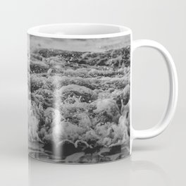 Black and White Pacific Ocean Waves Coffee Mug