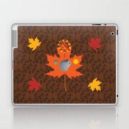 Grey Squirrel Autumn Pattern Laptop & iPad Skin