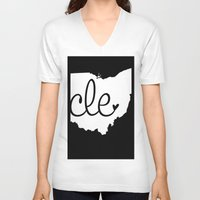 cleveland V-neck T-shirts featuring Love Cleveland by anastasia5