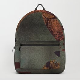 Abstract heart on sparkles Backpack
