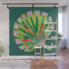 Fan Leaf in Green Wall Mural