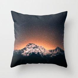 Mountain Space Throw Pillow