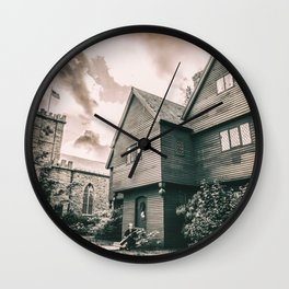 Roger Corwin House - The Witch House - Salem MA Wall Clock