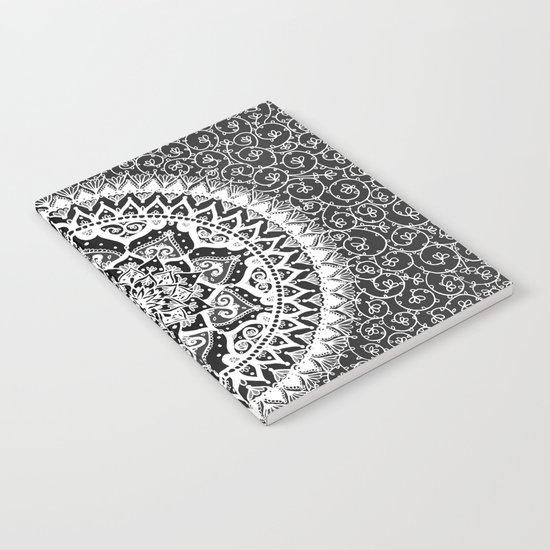 Yin Yang Mandala Pattern Notebook