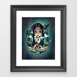 OVER YOUR DEAD BODY Framed Art Print