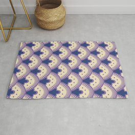 Fan Pattern Lavender and Blue 992 Rug