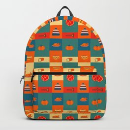 Dinner pattern Backpack