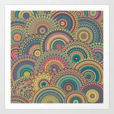 Millefiori Mandala Art Print