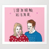Bridget Jones' Diary - I Like You Very Much Just As You Are Art Print