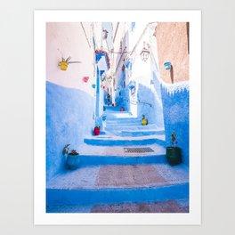 Walking round in Morocco - no3 Art Print