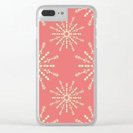 Coral Stars Clear iPhone Case