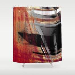 centered knife Shower Curtain