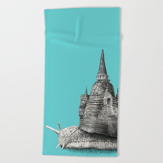 The Snail's Dream (monochrome option) Beach Towel