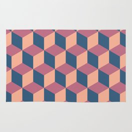 Isometric Cube Pattern Rug