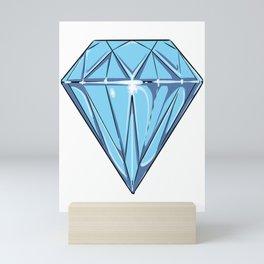 big blue Diamond Mini Art Print