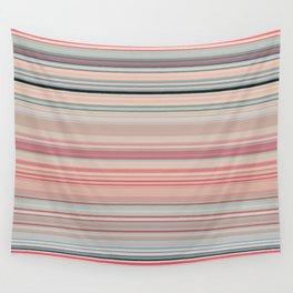 Pink Peach Pastel Stripe Design Wall Tapestry
