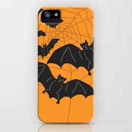 Flying Bats orange iPhone Case