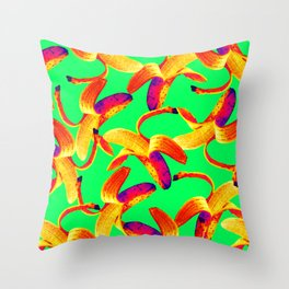 Banana Pop Art Throw Pillow