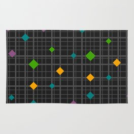 Networks with bright shapes Rug